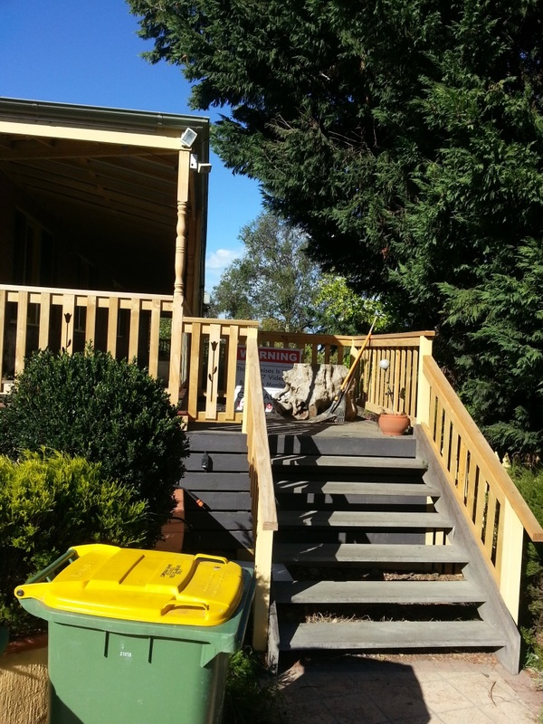 Exterior Painting New Timber Balustrades, Railing And Posts