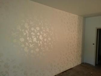 Laura Ashley Wallpaper feature wall bedroom